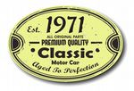 Distressed Aged Established 1971 Aged To Perfection Oval Design For Classic Car External Vinyl Car Sticker 120x80mm